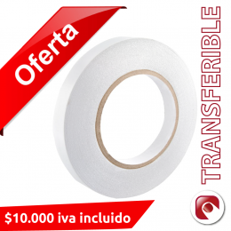 Pack 10 Unidades de Cinta Doble Contacto 12 mm. x 50 mts.